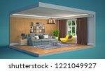 interior of the living room in...   Shutterstock . vector #1221049927