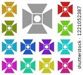 searchlight icon in multi color....