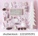 christmas decoration  flat lay  ... | Shutterstock . vector #1221055291