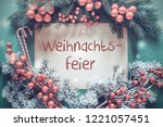 christmas garland  fir tree... | Shutterstock . vector #1221057451
