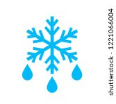 thaw vector icon illustration... | Shutterstock .eps vector #1221066004