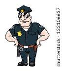 cartoon policeman for law... | Shutterstock .eps vector #122106637
