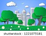 eco green city   Shutterstock . vector #1221075181