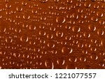 clear water drops transparent... | Shutterstock . vector #1221077557