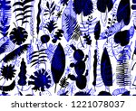 floral seamless pattern. vector ...   Shutterstock .eps vector #1221078037