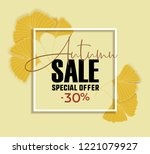 vector illustration ginkgo... | Shutterstock .eps vector #1221079927