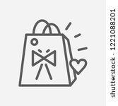 gift bag icon line symbol....