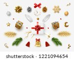 set realistic christmas objects ... | Shutterstock .eps vector #1221094654