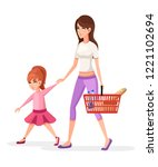 mother and daughter. mom... | Shutterstock .eps vector #1221102694