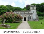 view of a beautiful old church... | Shutterstock . vector #1221104014