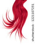 disheveled pink hair isolated... | Shutterstock . vector #1221107251