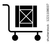 handcart with box solid icon....   Shutterstock .eps vector #1221108037