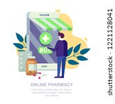 online pharmacy store  vector... | Shutterstock .eps vector #1221128041