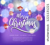 merry christmas design with... | Shutterstock .eps vector #1221131221