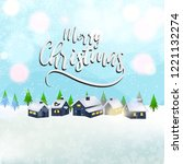 merry christmas design with... | Shutterstock .eps vector #1221132274