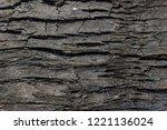 burned wood texture  black...   Shutterstock . vector #1221136024