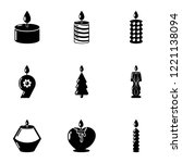 aroma icons set. simple set of... | Shutterstock .eps vector #1221138094