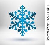 blue christmas snowflake icon...
