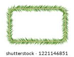 christmas tree decorations. fir ... | Shutterstock .eps vector #1221146851