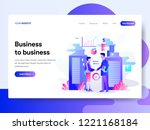 landing page template of...   Shutterstock .eps vector #1221168184