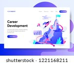landing page template of career ...   Shutterstock .eps vector #1221168211