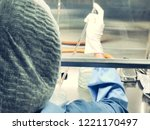 blurred of scientist doing the... | Shutterstock . vector #1221170497
