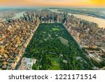 new york central park aerial... | Shutterstock . vector #1221171514