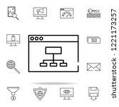 web site structure icon. seo...