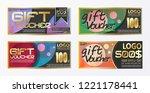 gift certificate voucher coupon ...   Shutterstock .eps vector #1221178441