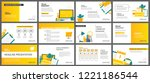 yellow and white element for... | Shutterstock .eps vector #1221186544