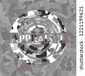 appraisal on grey camo texture | Shutterstock .eps vector #1221199621