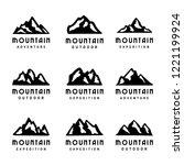 mountain vector set for logo...   Shutterstock .eps vector #1221199924
