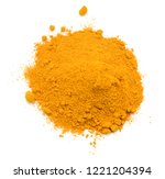 turmeric powder isolated on... | Shutterstock . vector #1221204394