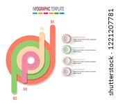 modern 3d pie chart infographic ... | Shutterstock .eps vector #1221207781