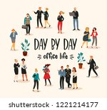 vectior illustration of office... | Shutterstock .eps vector #1221214177