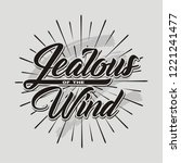 jealous of the wind. hand drawn ... | Shutterstock .eps vector #1221241477