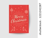 merry christmas greeting card... | Shutterstock .eps vector #1221242287