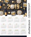 calendar design for 2019 | Shutterstock .eps vector #1221250147