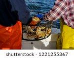 Crab fishing off the coast of Half Moon Bay Ca. in deep water