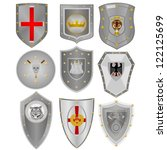 various knightly boards with... | Shutterstock .eps vector #122125699