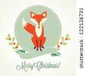 Christmas Background  Fox ...