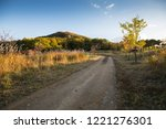 beautiful country roads and... | Shutterstock . vector #1221276301