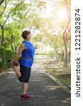 happy senior asian woman... | Shutterstock . vector #1221282874
