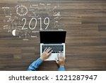 2019 new year business success  ...   Shutterstock . vector #1221287947