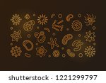 bacteriology and microbiology... | Shutterstock .eps vector #1221299797