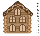 vector house for fairy tale.... | Shutterstock .eps vector #1221301327
