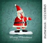vector smiling santa claus... | Shutterstock .eps vector #122130865