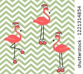 christmas seamless pattern with ... | Shutterstock .eps vector #1221314854