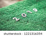 happy new year with copy space... | Shutterstock . vector #1221316354