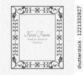 vintage monochrome frame in... | Shutterstock .eps vector #1221332827